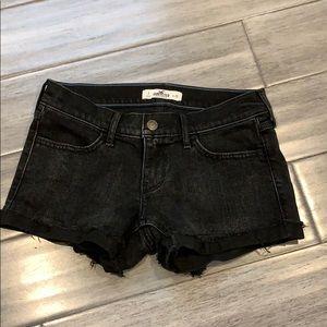Black denim Hollister shorts
